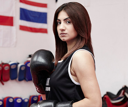 Ambreen Sadiq First female Muslim boxer Eastburn Fitness Centre, West Yorkshire 22/07/2013 First Person feature